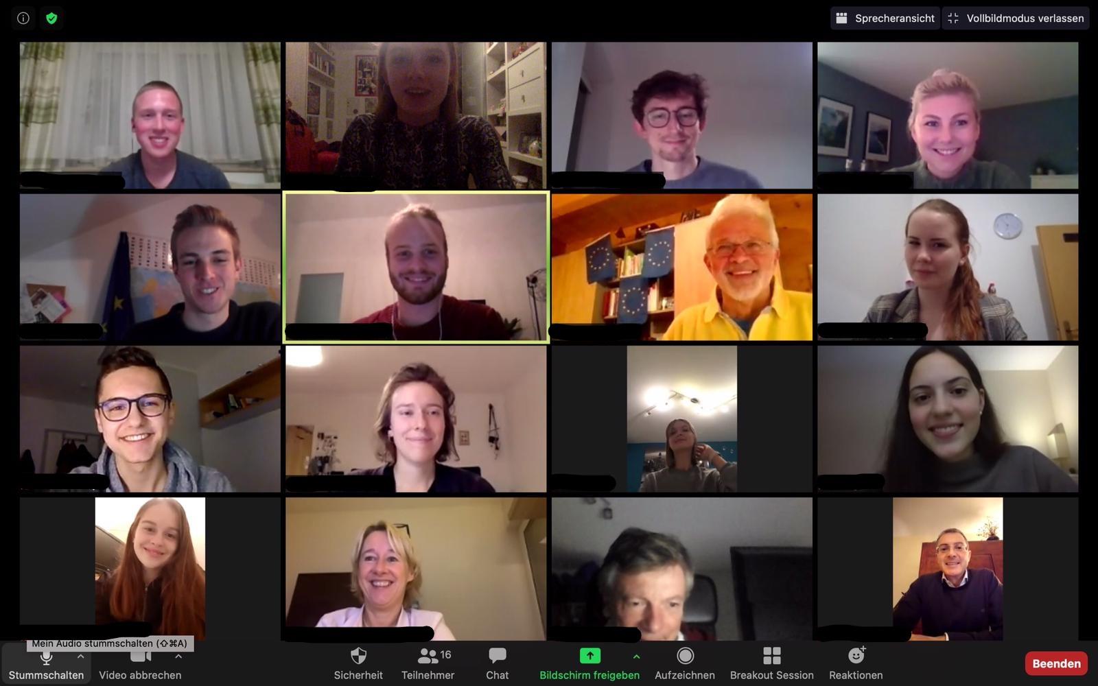 Online-Mitgliederversammlung mit Neuwahl der JEF Aschaffenburg via Zoom